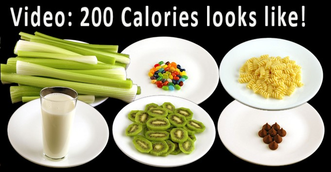 See What 200 Calories of different foods looks like